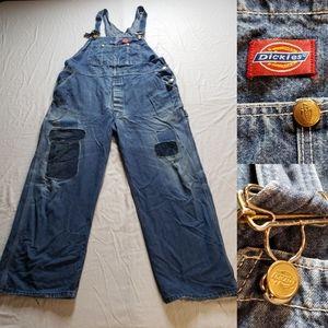 Vintage Dickies Bib Overalls custom Patchwork Gold